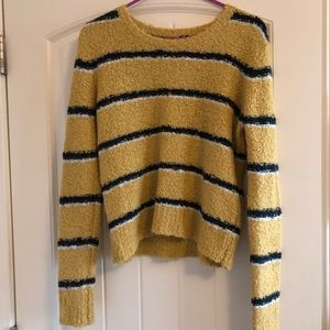 Free people striped fuzzy sweater